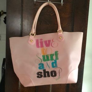 Juicy Couture pink beach bag with gold details